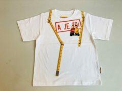 Witte Buurman & Buurman T-shirt Buurman en Buurman Unisex T-shirt Maat 98/104