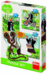 Dino Toys Puzzels het Kleine Molletje 3, 4 en 5 stukjes