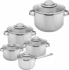Sola - Kookpannenset Pearl - 5-delig - RVS - Zilver