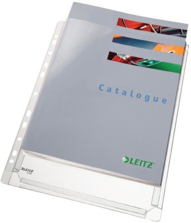 Afbeelding van Esselte Geperforeerde A4-hoesjes met balg uit glad PVC 17/100 - pak van 10