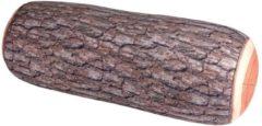 Kikkerland reiskussen boomstam 35 cm polyester/spandex bruin