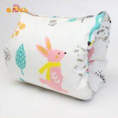 Balonsi - voedingskussen - Borstvoeding - Comfort - Babyshower - Wit met konijnenpatroon