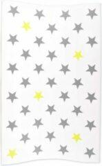 Witte Bébé-jou waskussen Stars zilver/lime