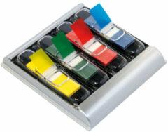 Info Notes Info flags dispenser 12,5x43mm - incl. flags geel, groen, rood,