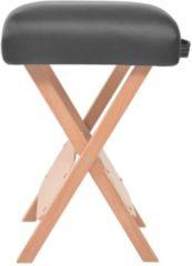 Witte VidaXL Massagekruk met 12 cm dikke zitting en 2 bolsters inklapbaar zwart