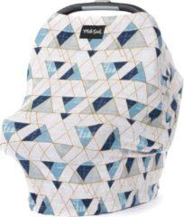Blauwe Milk Snob Cover LEVI | Premium autostoel luifel en hoes voor baby's | Borstvoedingsdoek & Verzorgingssjaal