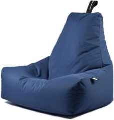 Donkerblauwe Extreme Lounging b-bag - Luxe zitzak - Indoor en outdoor - Waterafstotend - 95 x 95 x 90 cm - Polyester - Royal Blauw