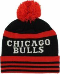 Mitchell & Ness ONFIELD CUFF KNIT CHICAGO BULLS Zwart;Rood maat One size