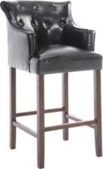 CLP Barhocker LYKSO mit Kunstlederbezug I Barstuhl mit sesselförmigem Sitz und Fußstütze I Tresenhocker mit Holzgestell In verschiedenen Farben erhäl