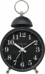 NeXtime Single Bell - Wekker / Tafelklok - Metaal - 16x9,2x5,4 cm - Zwart