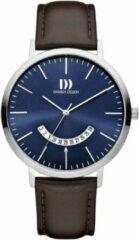 Zilveren Danish Design watches edelstalen herenhorloge Morsø Cocoa Blue IQ22Q1239