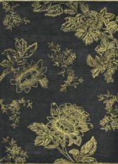Wedgwood - Tonquin Charcoal 37005 Vloerkleed - 120x180 cm - Rechthoekig - Laagpolig Tapijt - Klassiek - Goud, Zwart