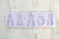 Paarse Karen Davies Christmas Characters Silicone Mould