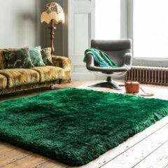 Eazy Living Easy Living - Plush-Rug-Emerald Vloerkleed - 70x140 cm - Rechthoekig - Laagpolig, Shaggy Tapijt - Design, Klassiek - Groen