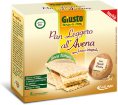 GIULIANI SpA Giuliani Giusto Senza Glutine Pan Leggero Avena 6x25g