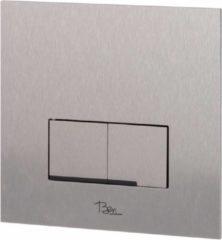 Roestvrijstalen Ben Pro Flush Shine bedieningspaneel 2-knops tbv BPF/BPSF rvs