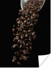 PosterMonkey Koffiebonen voor een espresso poster 60x80 cm - Foto print op Poster (wanddecoratie woonkamer / slaapkamer)
