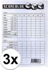 Haza Original 3x Scoreblok Yahtzee
