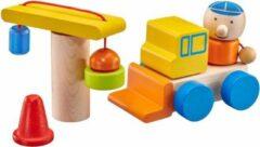 Naturelkleurige Selecta Spielzeug Speelset Bouwplaats Jongens Hout 8-delig