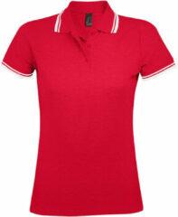 Rode Polo Shirt Korte Mouw Sols PASADENA MODERN WOMEN