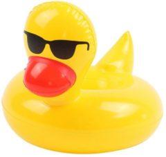 Gele Merkloos / Sans marque 2 stuk Mr Duck Blik Beker houder | opblaasbaar | Strand Party Terras Feest | Bekerhouders