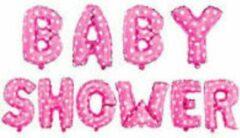 Roze Stemen Babyshower Versiering Pakket 10 losse letters- It's a Girl - Luxe Baby Shower Helium Balonnen Set - Baby Girl Folie Ballon - Geboorte Feest Cadeau Meisje -35cm hoog en de breedte varieert tussen 30-38cm