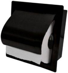Boss & Wessing BWS Inbouw Toiletrolhouder RVS Mat Zwart