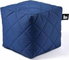 Blauwe B-bag extreme lounging Extreme lounging B-Box Quilted Poef - Royalblue