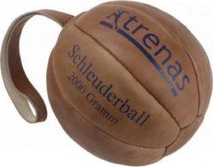 Bruine Trenas - Slingerbal - Schleuderball - Leer - 2 kg - Ø 21cm - Lus lengte 28 cm
