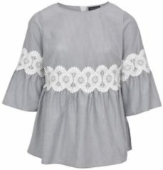 Grijze Gestreepte blouse