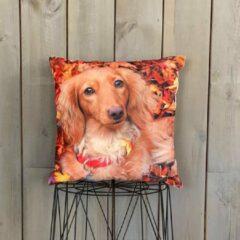 Rode Lekker Zacht Animal Fun Kussen - Hond