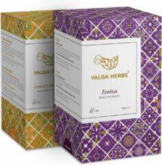 Combipack van Erotica en Lemon Cold Buster-2 Doosjes van Yalda Herbs Kruidenthee-36 piramide theezakjes