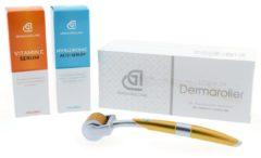 Transparante Dermarolling Dermarollerset 1 - Titanium Derma roller 0.5mm | Complete dermaroller set om direct mee aan de slag te gaan.