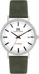 Danish Design watches titanium herenhorloge Rhine White groen Date Large IQ28Q1273