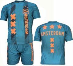 Merkloos / Sans marque Amsterdam Replica Voetbal Tenue T-Shirt + Broek Set 2019-2020 Groen, Maat: 92