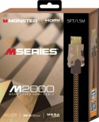 Zilveren Monster M series M2 UHD High Speed HDMI Kabel - Ethernet - 25Gbps - 1,5m
