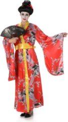 Rode Karnival Costumes Geisha Kostuum | Geisha Eeuwig Bloeiende Lotus Bloem | Vrouw | Large | Carnaval kostuum | Verkleedkleding