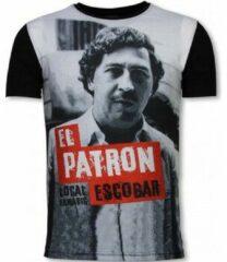 Zwarte T-shirt Korte Mouw Local Fanatic El Patron Escobar - Digital Rhinestone T-shirt