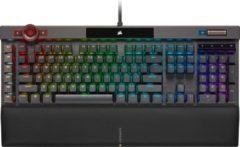 Zwarte Corsair K100 RGB Mechanisch RGB Qwerty Gaming Toetsenbord - Cherry MX Speed