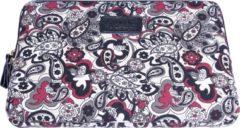 Rode Kinmac – Laptop Sleeve met Paisley print tot 15 inch – 39,5 x 27 x 1,5 cm - Zwart/Rood