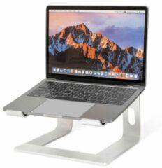 LifeGoods Laptop Standaard - Lichtgewicht - Universeel 10 tot 17 inch - Draagbaar - Aluminium - Zilver