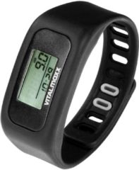 Zwarte VitalMaxx Fitness tracker Black - Stappen, Calorieverbruik, Afstand en Trainingstijd
