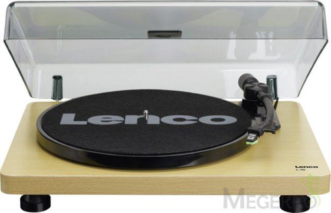 Afbeelding van Lenco L-30 hout - Platenspeler met auto-stop en USB aansluiting - Phonocartridge met bewegende magneet