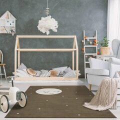 Bruine Sens Kids Rugs Maan kindervloerkleed - kindertapijt - 100 x 140 cm - wasbaar - zacht - duurzame kwaliteit - speelgoed
