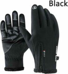 Zwarte GAFASTWO Premium Handschoenen - Sporthandschoenen - Touchscreen - Winddicht - Anti-Slip - Ski Handschoenen - Maat L