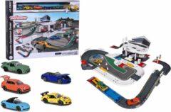 Majorette - Porsche Experience Center + 5 voertuigen - Garage - Speelset