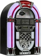 Auna Arizona jukebox BT FM radio USB SD MP3 CD speler zwart