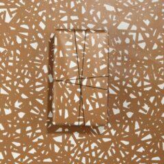 Paperoni - Mesh - luxe cadeaupapier - inpakpapier - rol met bijpassend koord - goud