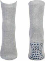 Grijze Basset Anti slip sokken volwassenen Unisex Huissokken 39-42
