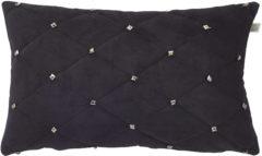 Zwarte Dutch decor kussenhoes esula 30x50 cm zwart